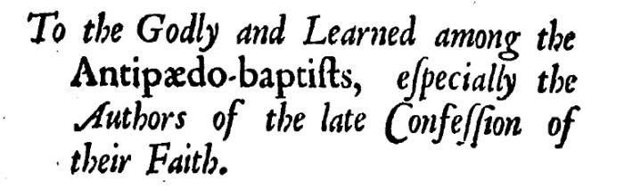 Joseph Whiston, Infant Baptism Plainly Proved, 91