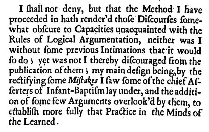 Joseph Whiston, Infant Baptism Plainly Proved, 92