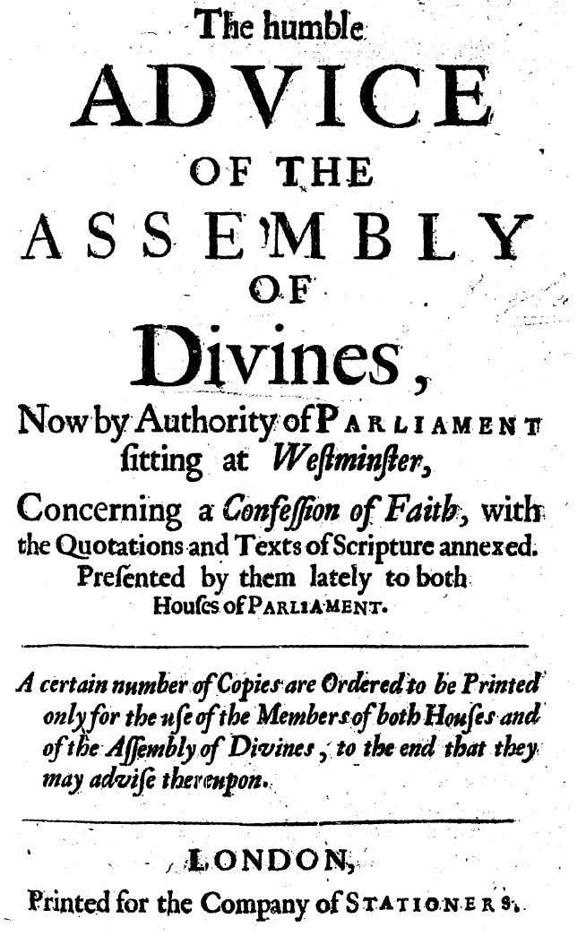 Review copy of Westminster Confession