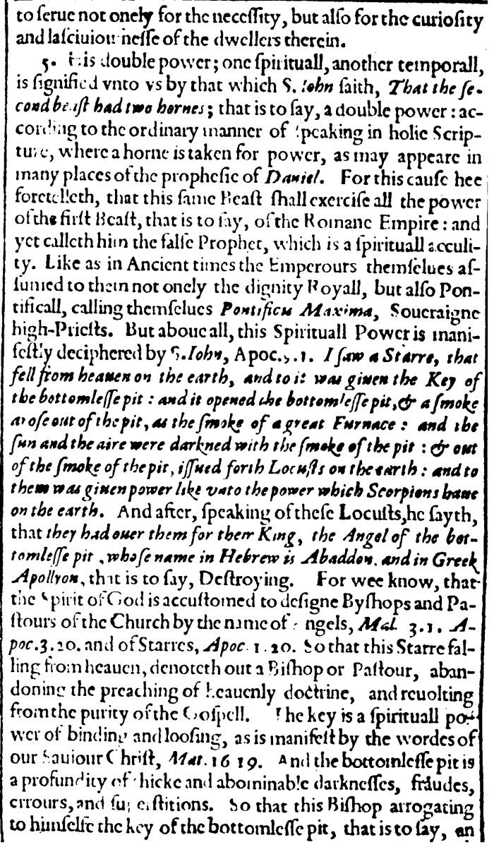 Thomas Beard, Antichrist the Pope of Rome, 5