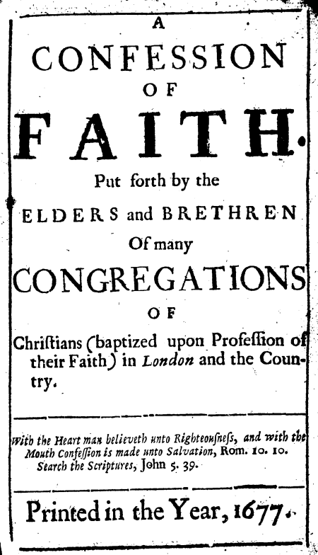 The Confessing Baptist Page 79 Reformed Resources From A 1689