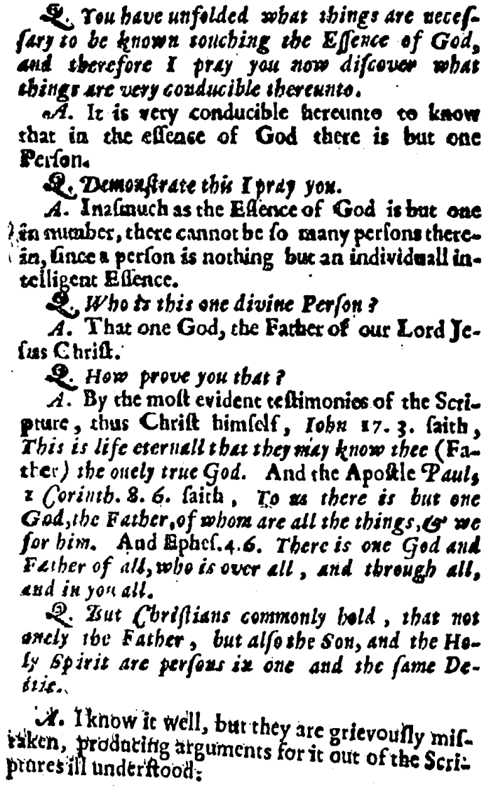 Racovian Catechism, 18-19