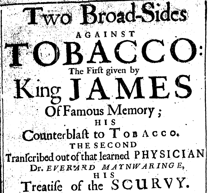 Two Broad-Sides Against Tobacco - Title Page