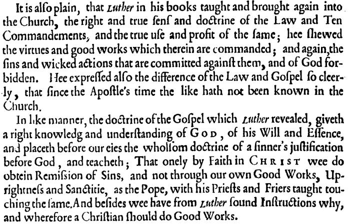 Martin Luther, Colloquia, Preface
