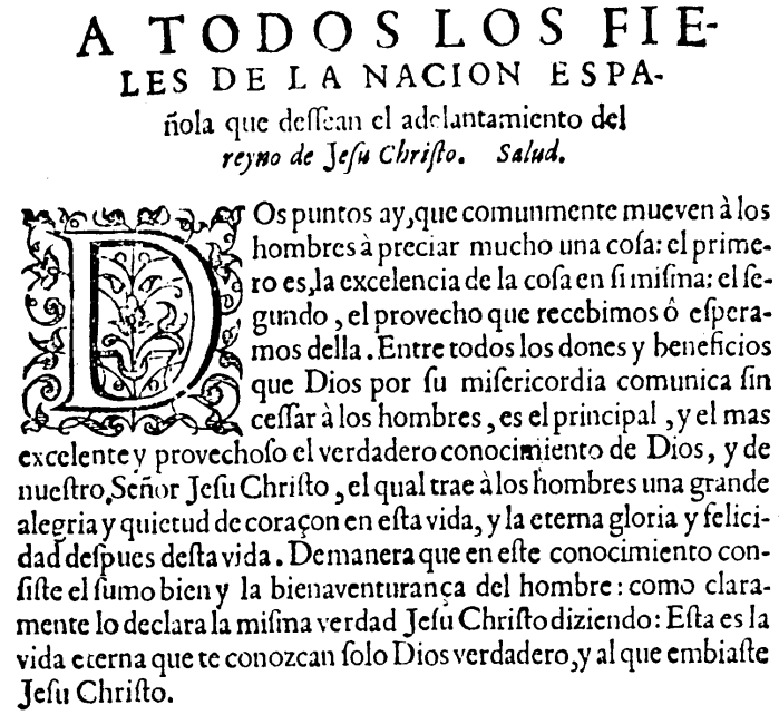 Juan Calvino, Institucion, prefacio