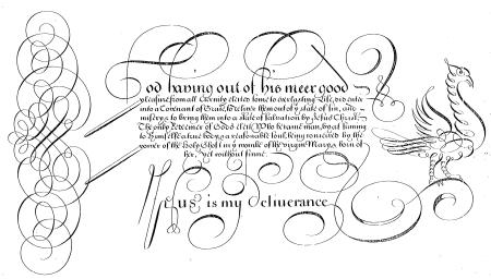 Edward Cocker, The Guide to Penmanship-1