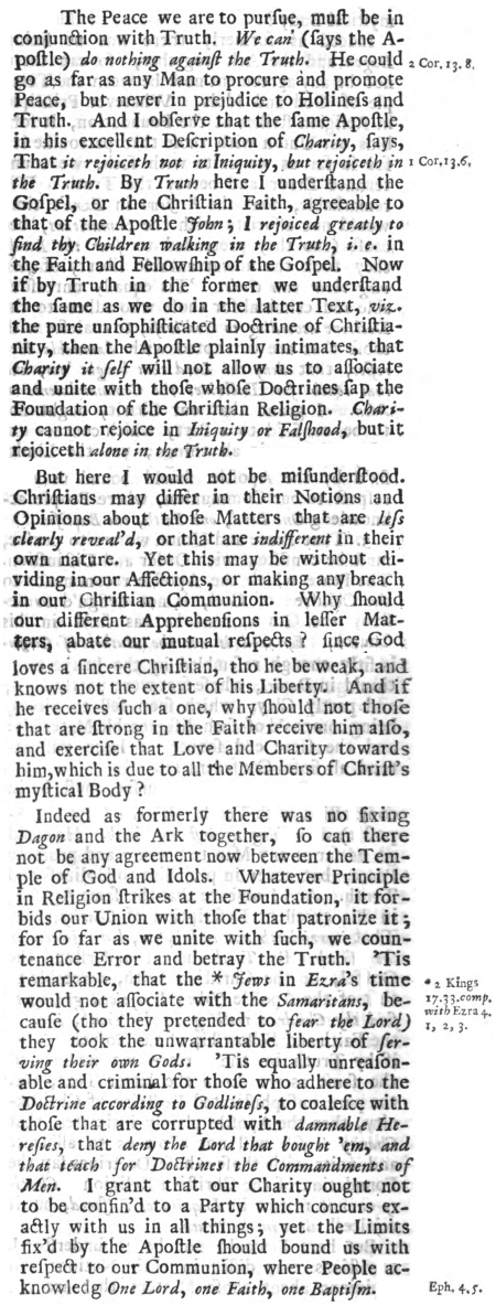John Piggot, Eleven Sermons, 295-296, 1704, Unity and Truth