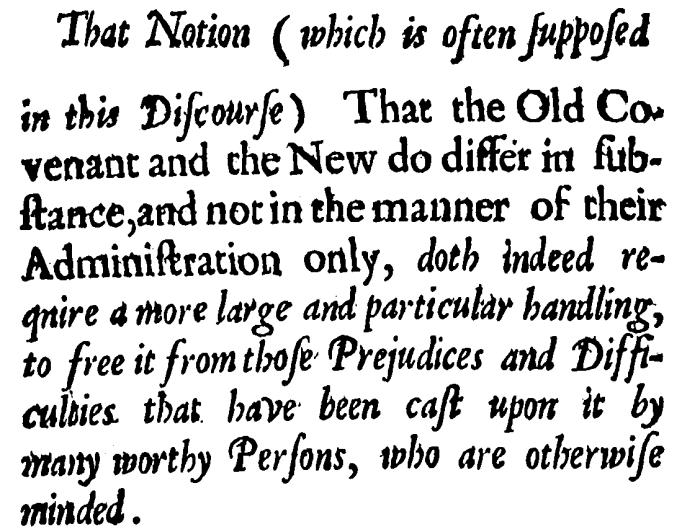 Nehemiah Coxe, A Discourse, Preface-0