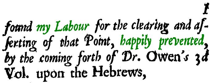 Nehemiah Coxe, A Discourse, Preface-4