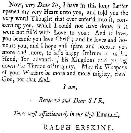 Ralph Erskine, Letter to Whitfield, 14