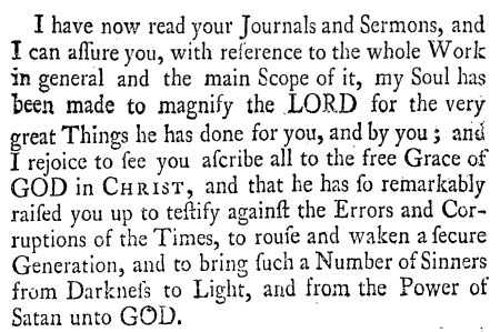 Ralph Erskine, Letter to Whitfield, 4-5