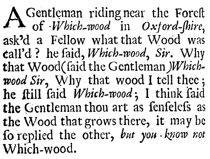 Of all the 17th-century humor I've encountered, this is one of my favorites